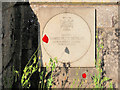 SD7807 : Memorial Stone for James Hutchinson VC, Radcliffe Cenotaph by David Dixon