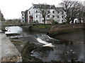 NB4233 : Weir on Bayhead River by Hugh Venables