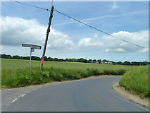 TR2647 : Road junction between Coldred  and Shepherdswell by Robin Webster