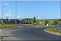 SK6635 : Fosseway Service Station by Alan Murray-Rust