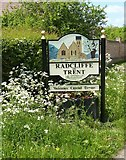 SK6538 : Radcliffe on Trent village sign by Alan Murray-Rust