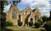 TQ0044 : Holy Trinity, Bramley (Surrey) - west elevation by David Kemp