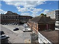 SX9192 : Car park behind  Exeter Central Station by David Smith