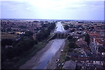 TF3244 : Looking along the River Witham towards the A1137 road bridge from Boston Stump by Colin Park