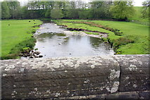 SD9058 : River Aire viewed over southern parapet of Newfield Bridge by Roger Templeman