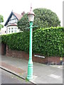 NZ3471 : Sewer Gas Lamp, St Georges Crescent, Monkseaton by Geoff Holland
