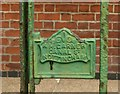SK6141 : Gate lock with makers name, Carlton Hill by Alan Murray-Rust