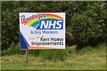 H4965 : Support for the NHS and Key Workers board, Raw by Kenneth  Allen