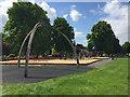 SP2864 : Missing the children, St Nicholas Park play area, Warwick in lockdown by Robin Stott