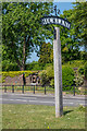 TQ2250 : Silent Soldier, VE75 and village sign by Ian Capper