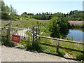 SK6143 : Footpath closed, in Gedling Country Park by Alan Murray-Rust