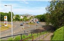 NO3700 : Roundabout at Bawbee Bridge by Bill Kasman