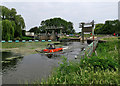 TL5065 : Weeding the Cam at Bottisham Lock by John Sutton