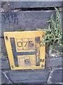 SH6266 : Hydrant marker on Allt Pen y Bryn, Bethesda by Meirion