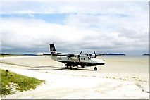 NF6905 : Plane on beach at Traigh Mhor, Barra by Colin Park