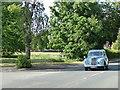 SE3423 : Vintage car on Aberford Road by Stephen Craven