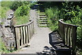 ST1295 : Footbridge on the 'Skylark' trail, Parc Penallta by M J Roscoe