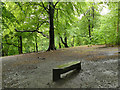 SE3136 : Bench in Gledhow Valley Woods by Stephen Craven