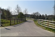 TQ5944 : Access road to Bournemill Farm by N Chadwick