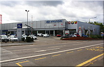 SK5802 : Hyundai car sales showrooms, Aylestone Road by Roger Templeman