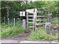 SE2336 : Footpath with tall wooden gate by Stephen Craven
