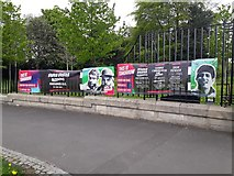 NZ2465 : Event banners, Exhibition Park, Newcastle upon Tyne by Graham Robson