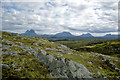 NC0725 : Sutherland panorama from the side of Creag Dharaich by Julian Paren