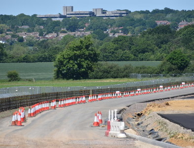 SU7566 : Arborfield Cross Relief Road under construction by Simon Mortimer