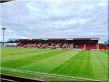 SO8375 : Aggborough Stadium, Kidderminster by Chris Whippet