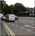 ST3090 : RCS van descending Malpas Hill, Newport by Jaggery