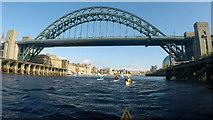 NZ2563 : Paddling towards the Tyne Bridge by Andy Waddington