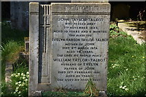 TQ5742 : Taylor-Talbot family grave, St Peter's Church by N Chadwick