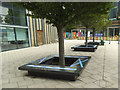 SE3032 : Leeds Dock - socially distanced seating by Stephen Craven