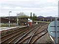 NN6385 : Dalwhinnie station by John Lucas