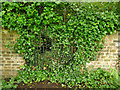 SE2632 : Western Flatts Cliff Park: former entrance to rose garden by Stephen Craven