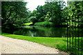 TL2454 : Pond at Waresley Grange by Tiger