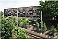 SK5542 : Derelict flats by David Lally