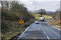 NT0777 : A904 near Hopetoun Wood by David Dixon