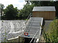 NT2271 : Archimedes screw and generator house by M J Richardson