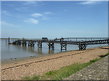 TQ6674 : London Port Health Authority jetty by Robin Webster