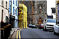 H4472 : Scaffolding to premises, George's Street, Omagh by Kenneth  Allen
