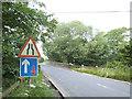 SE2346 : Signs approaching Leathley Bridge by Stephen Craven