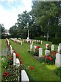 SX9493 : World War 2 military graves, Exeter Higher Cemetery by David Smith