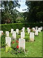 SX9493 : WW2 German war graves, Exeter Higher Cemetery by David Smith