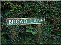 TG1318 : Broad Lane sign by Adrian Cable