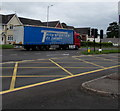 ST3091 : Transportes do Valado lorry in Malpas, Newport - a long way from home by Jaggery