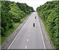 NJ7620 : Bikers on the A96 by Bill Harrison