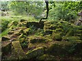 SK2579 : Ruined building in Padley Gorge by Graham Hogg