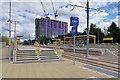 SJ8096 : Metrolink Trafford Park Line, Wharfside by David Dixon