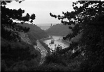 ST5673 : SS Great Britain approaches the Clifton Suspension Bridge by Martin Tester